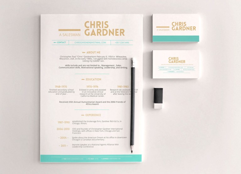 free minimalist resume template in photoshop psd format
