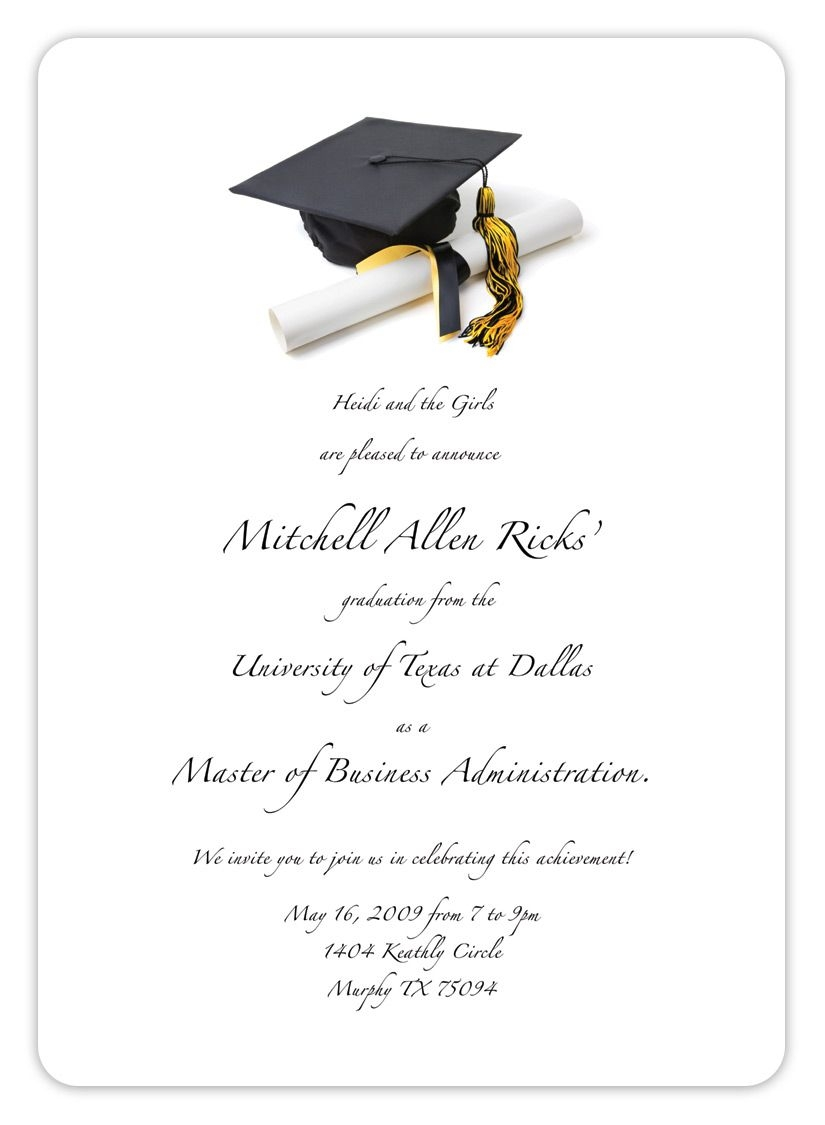 Graduation Invitation Templates With A Variety Of Design Style Within Free Graduation Invitation Templates For Word