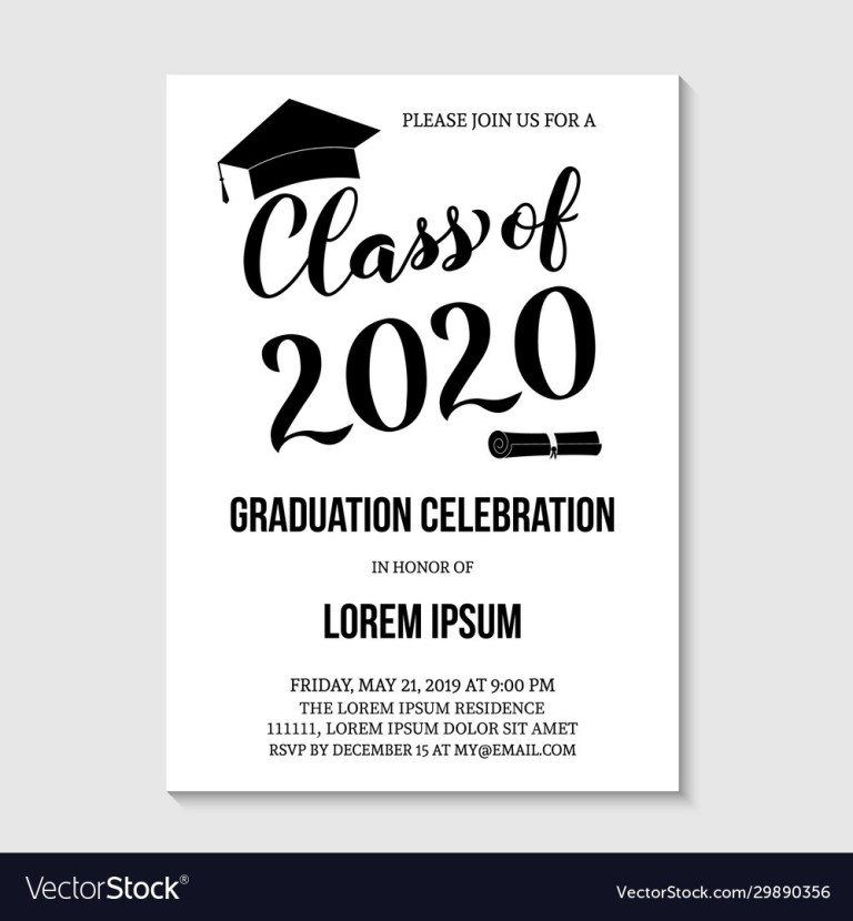 graduation party invitation card template black