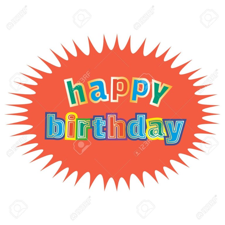 happy birthday card poster template idea for design of birthday