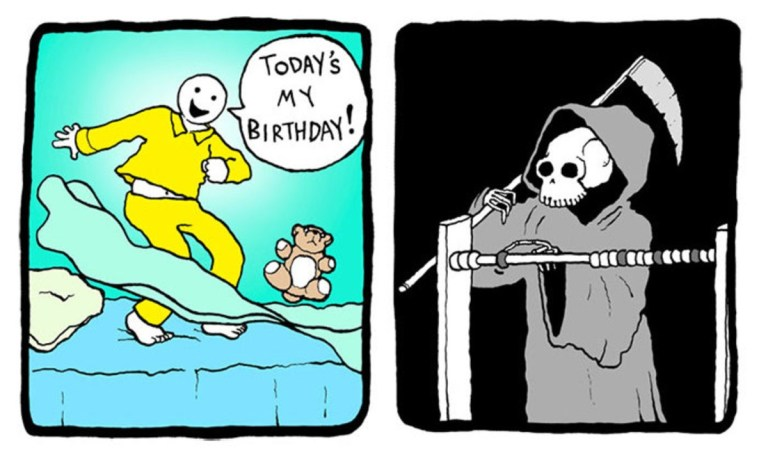 happy birthday meme close to death