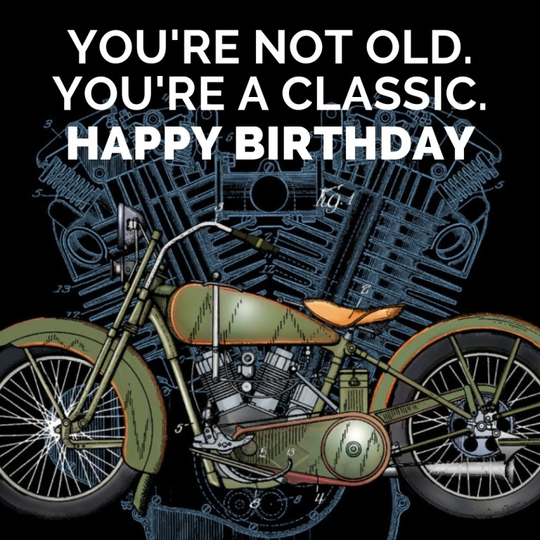 happy birthday riding motorcycle memes