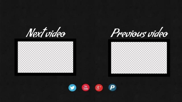 how to create end screen template for youtube videos
