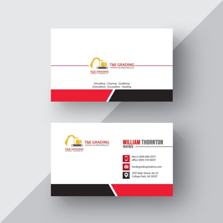 layout a simple business card