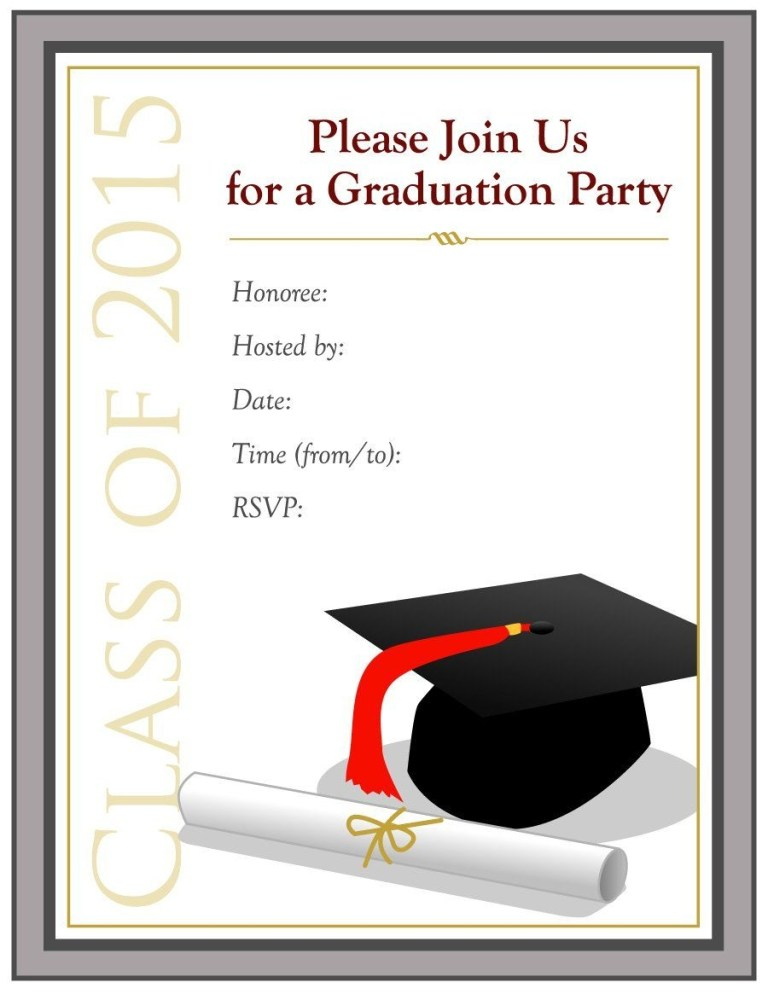 lovely graduation party invitation template 43 about