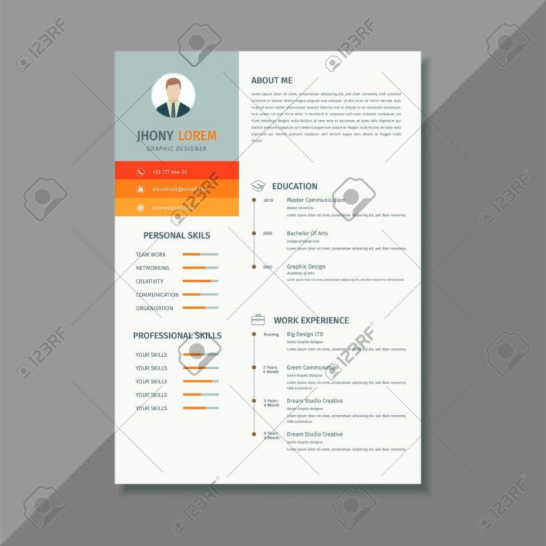 minimalist resume cv template display your profile