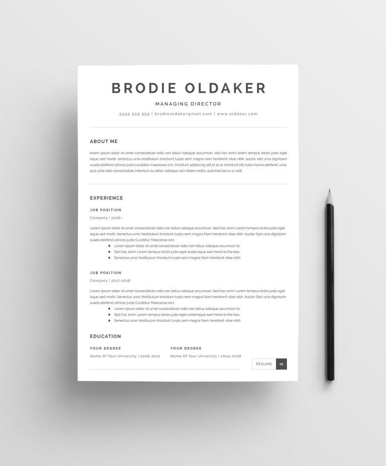 minimalist resume template minimalist resume template