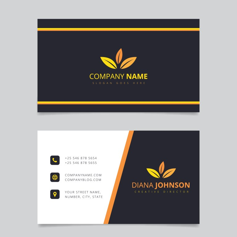 modern simple business card vector template creative