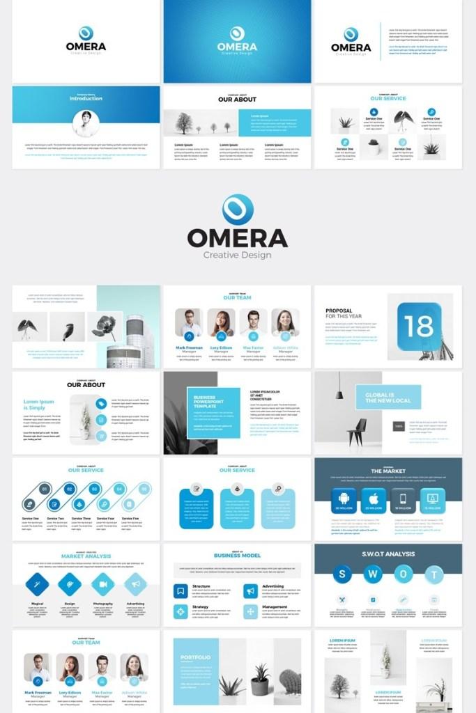 omera modern presentation powerpoint template