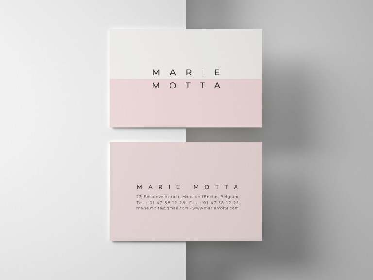 pink business card business templates clean