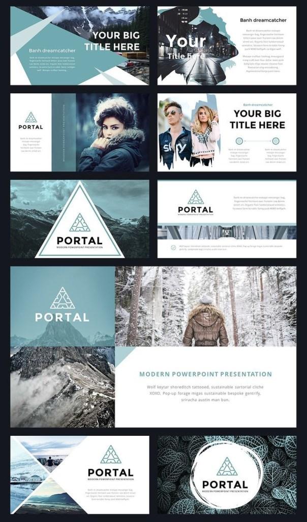 portal modern powerpoint template thit k ha ha