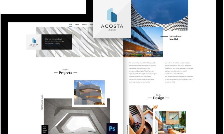 psd template for architecture office