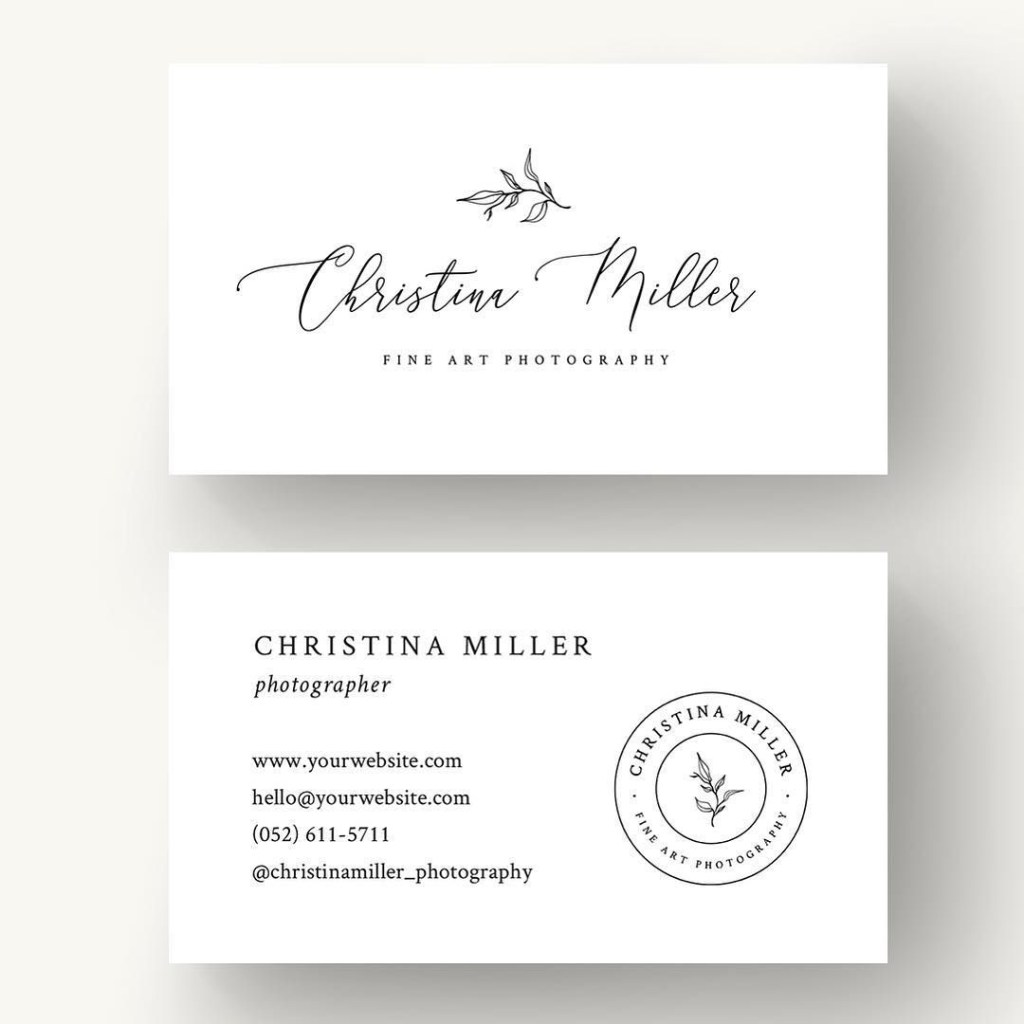 simple and minimal business cards design included