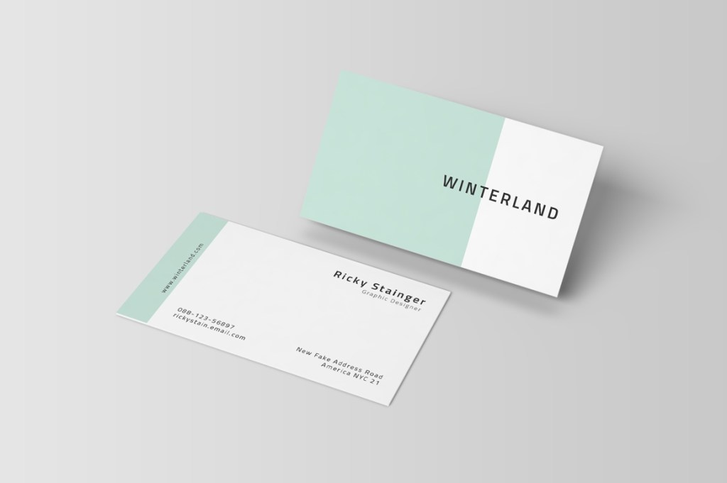simple business card template inspiration