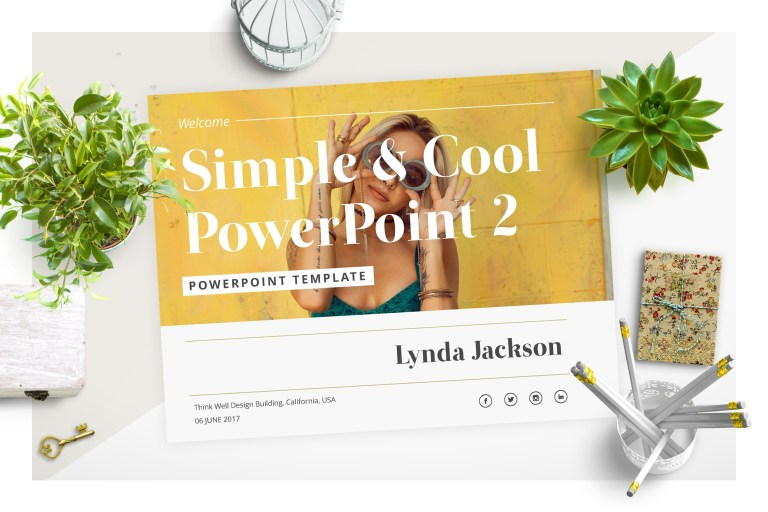 simple cool powerpoint template 2