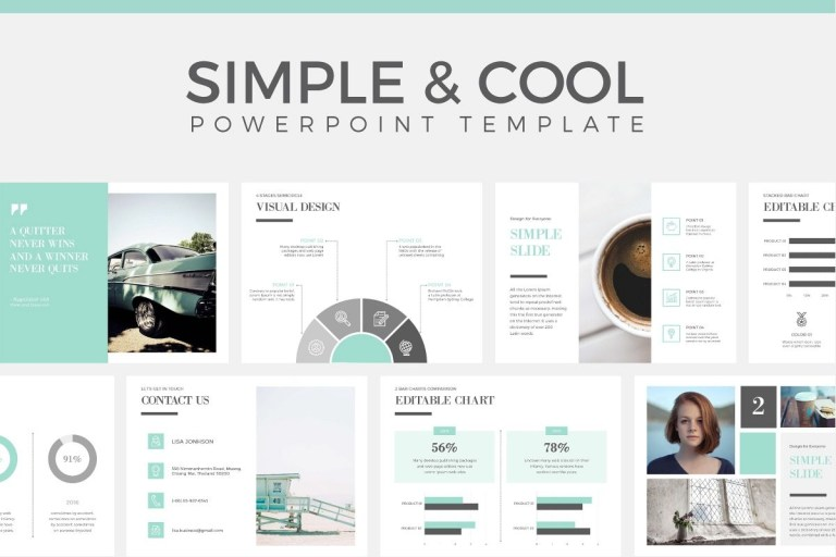 simple cool powerpoint template