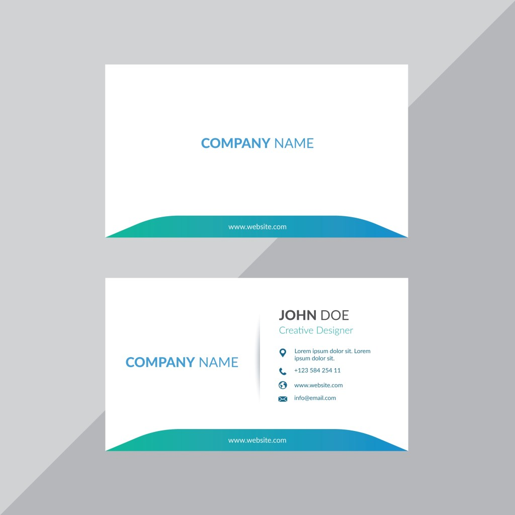 simple white professional business card template