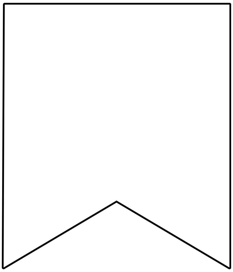 template printable pennant banner epp acp printable