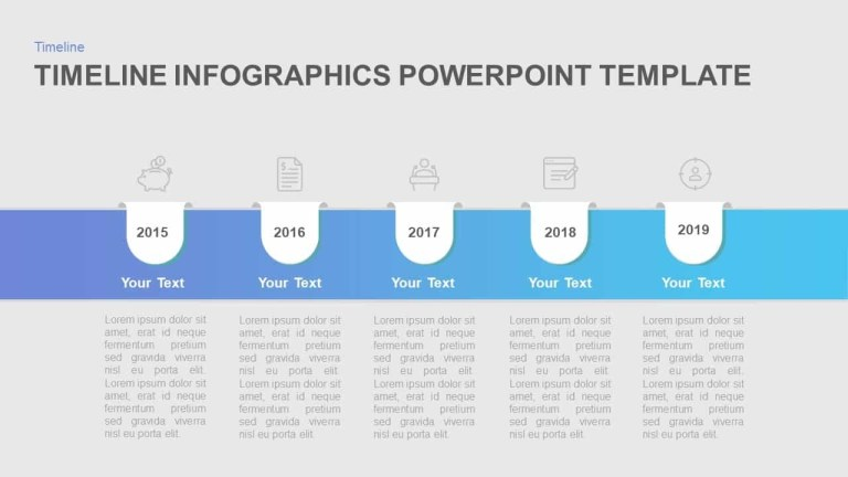 timeline infographic template for simple powerpoint presentation
