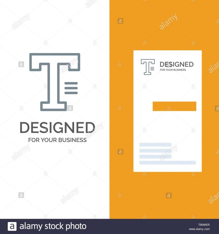 type text write word grey logo design and business card