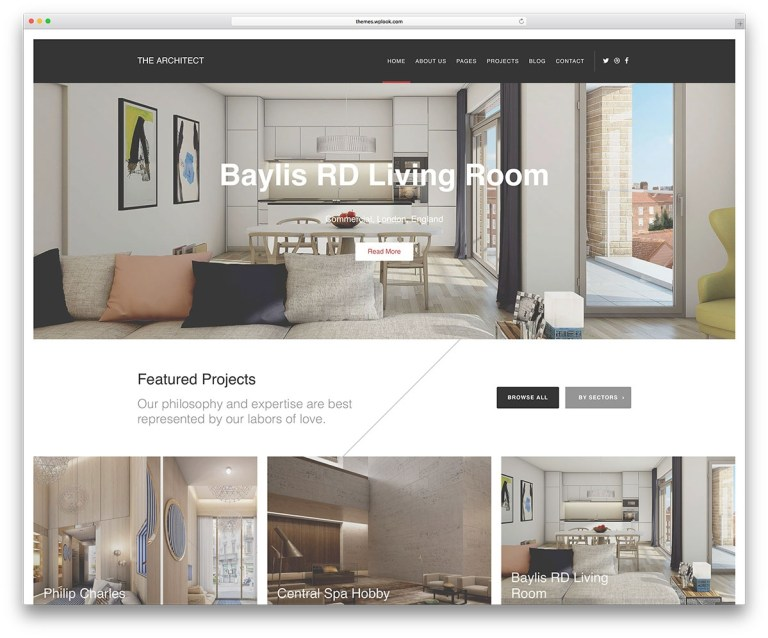 website layout for architects