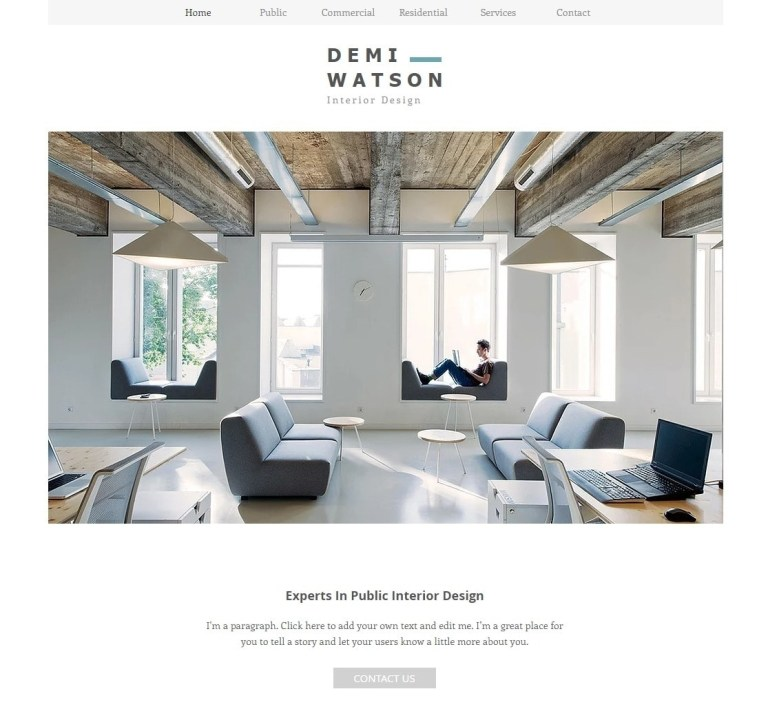 wix templates for architect websites