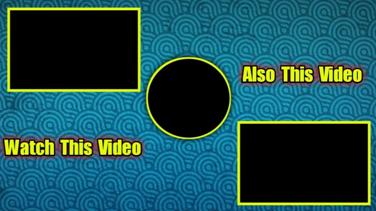 youtube end screen template structure free download