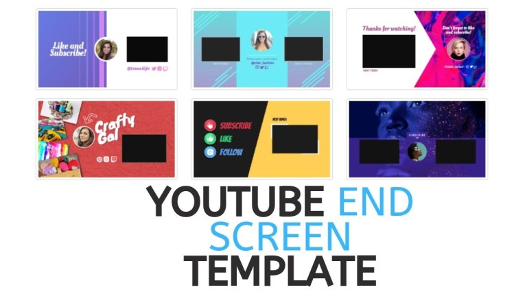 youtube end screen template tricks and tips