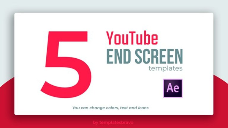 youtube end screens after effects project files