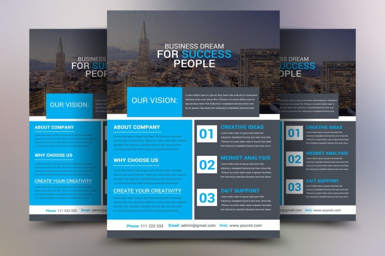 corporate product poster template psd