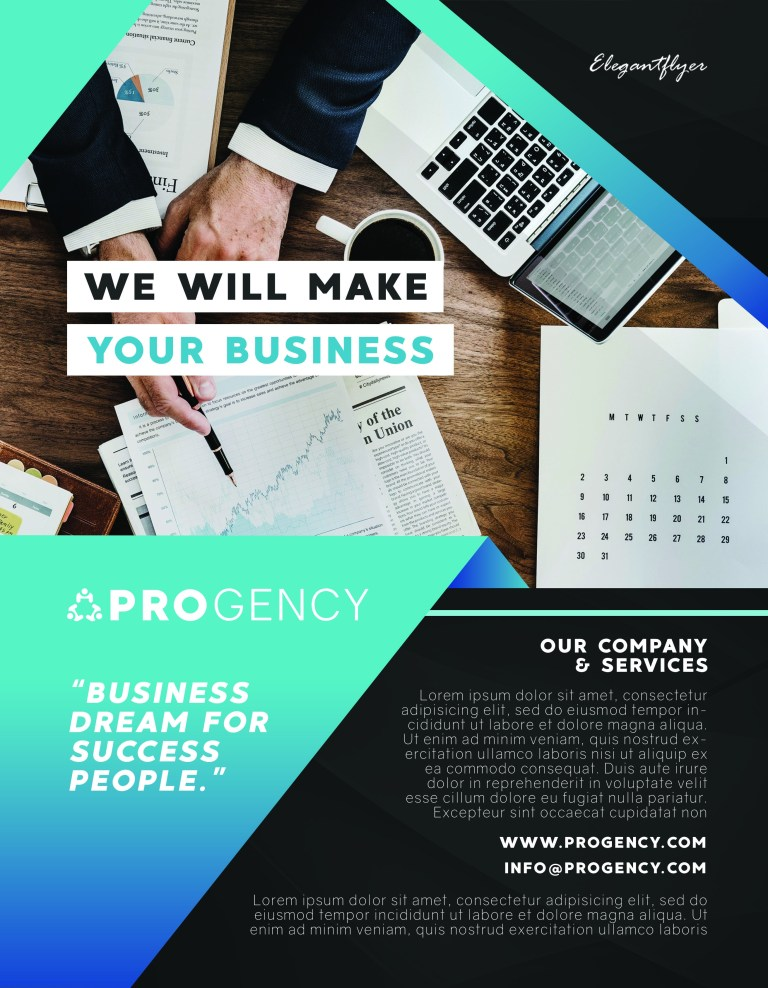 creating business flyer design