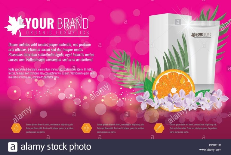 pink cosmetics product ads poster template