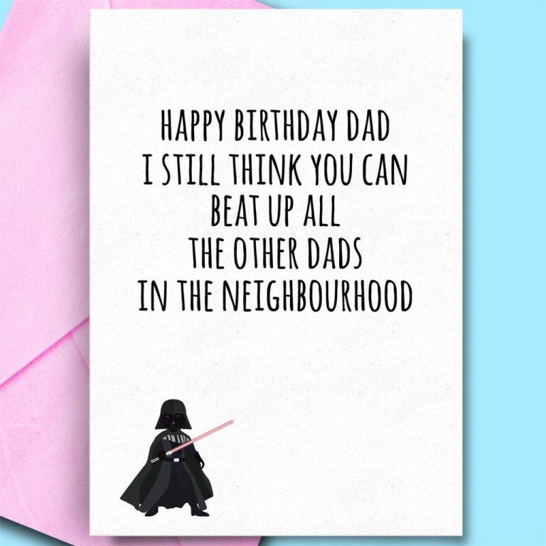 dad birthday from son daughter fun humour adult birthday