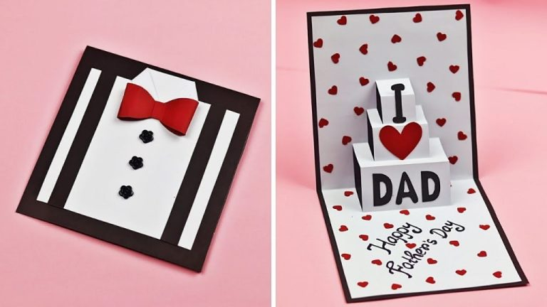 diy fathers day greeting card idea easy pop up card for fathers day fathers day card