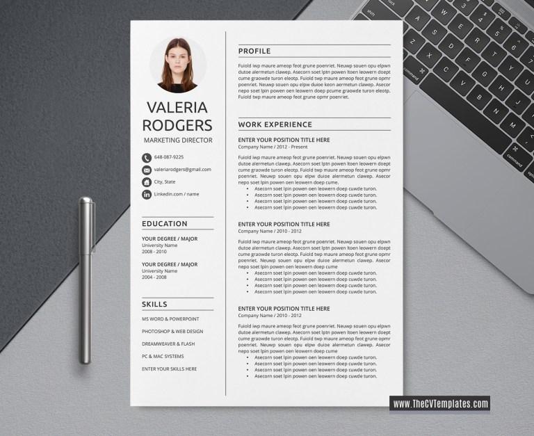 2020 cv template for ms word professional modern cv