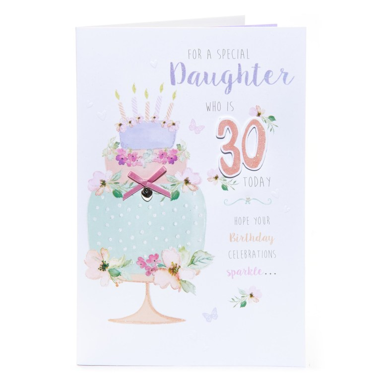 30th birthday card for a special daughter