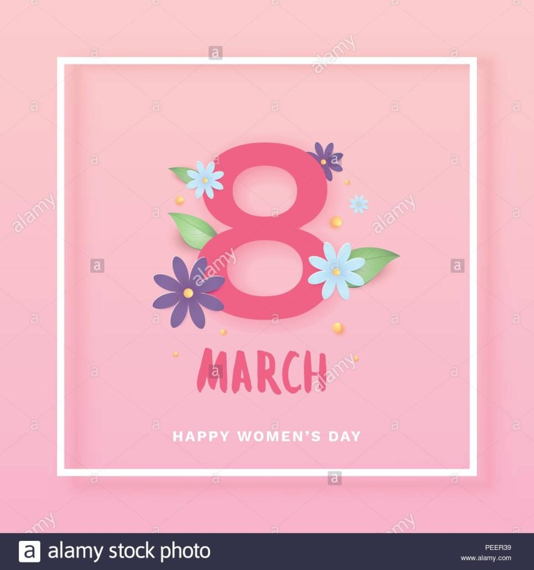 8 march happy womens day square cover template for