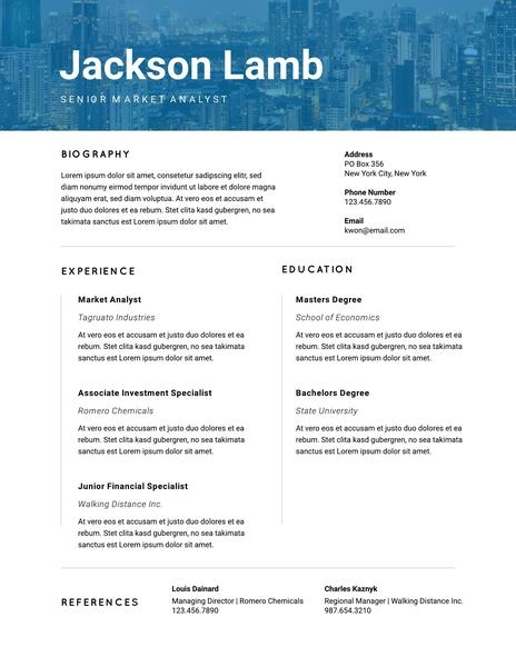 800 free professional resume templates downloadable