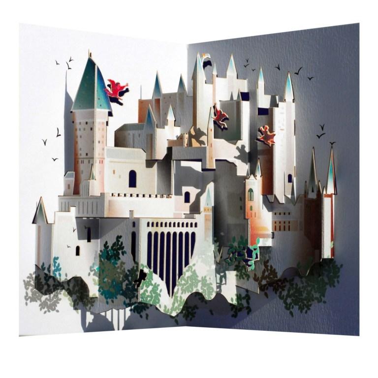 amazing harry potter hogwarts pop up greeting card ge feng