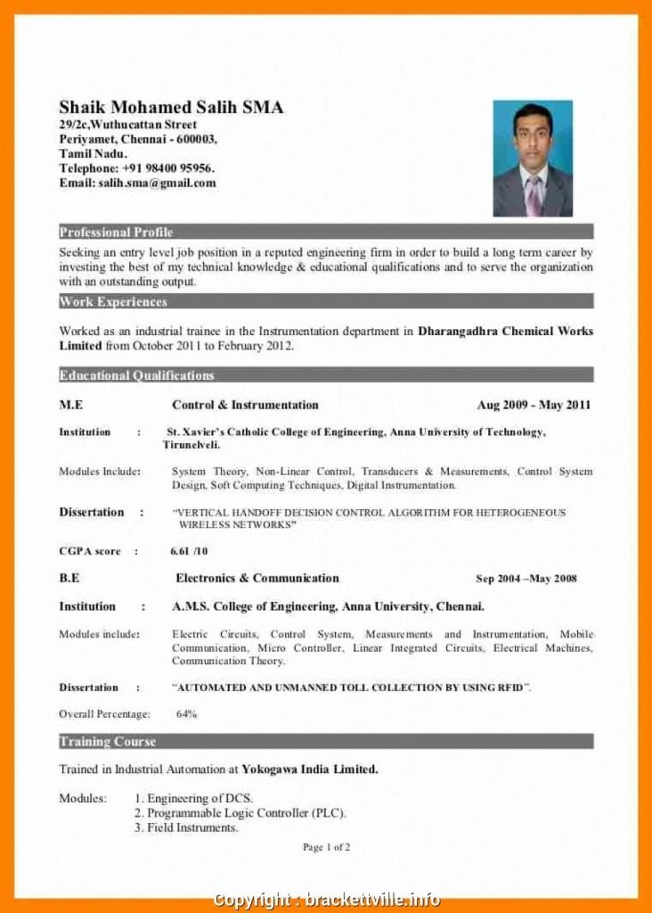 best hr resume format for fresher sample resume format for