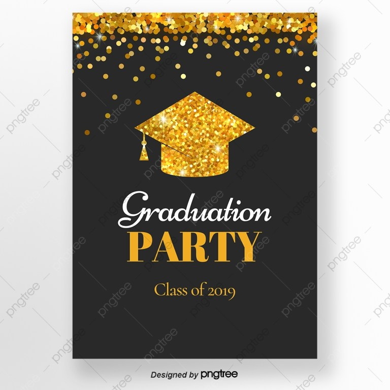 black and gold sequins graduation cap graduation party