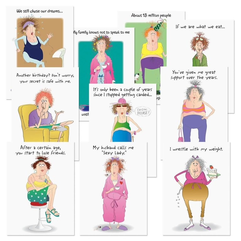 broadly funny birthday cards value pack