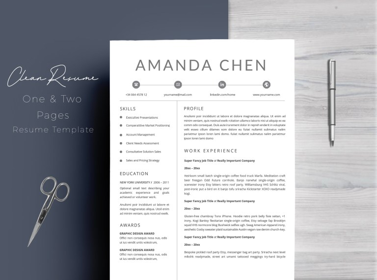 clean professional resume template word 11655 resume