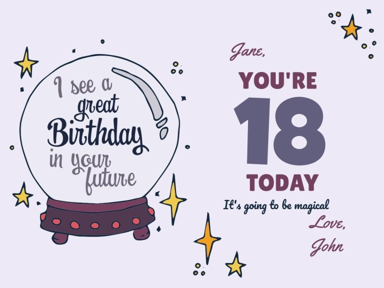 create customized 18th birthday cards with design wizard