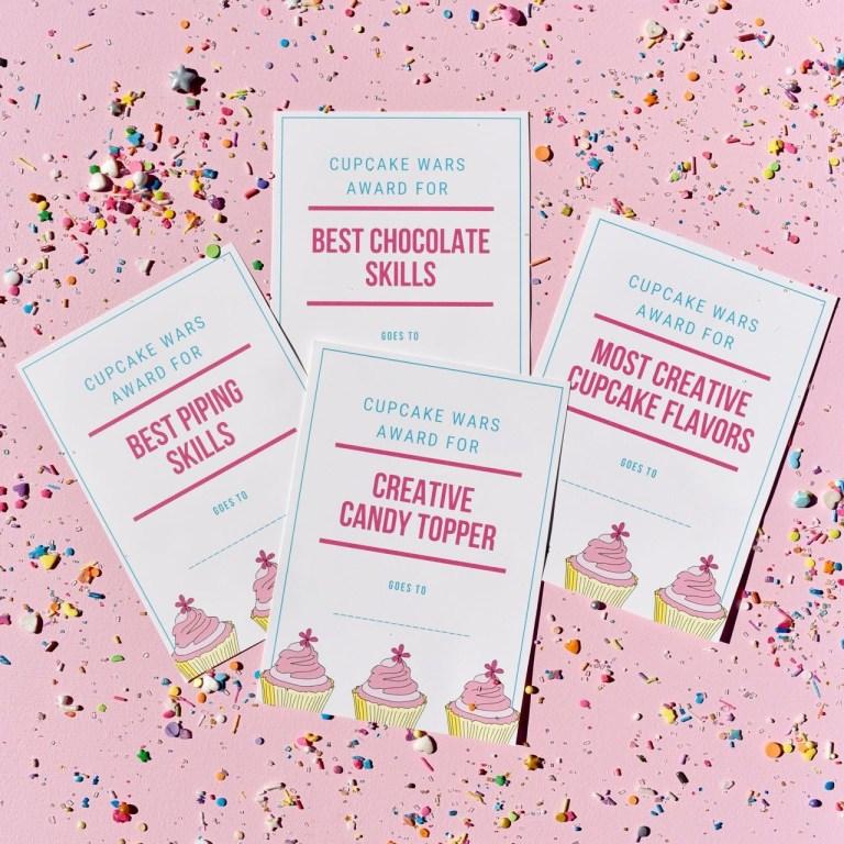 cupcake wars birthday party free printables make life