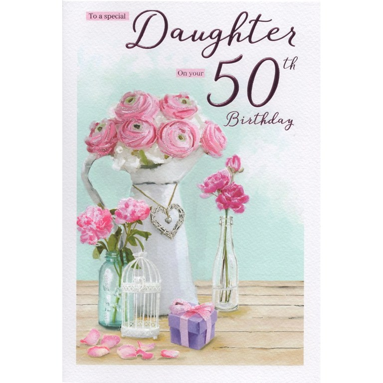 daughter 50th birthday card 7707