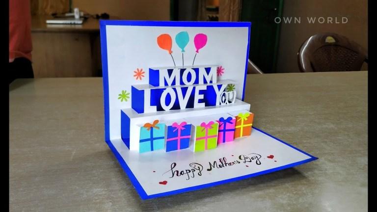 diy birthday card birthday card making mothers day pop up card