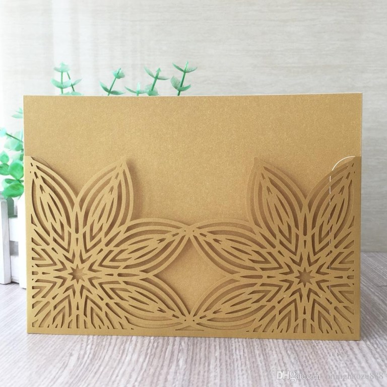 double flowers wedding invitation cards envelope design with