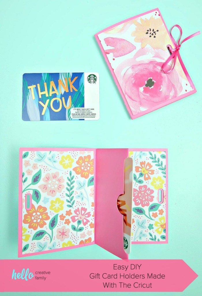 easy diy gift card holders made with the cricut hello