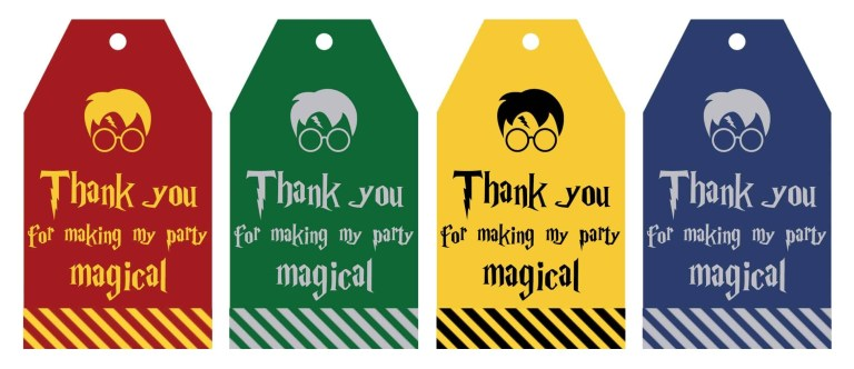 free printable harry potter party favor gift tags lovely